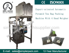 China Supplier Automatic Pyramid Tea Bag Packing Machine with Nylon Mesh with Thread and Tag