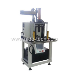 Automatic armature pressing machine for end cover shaft and commutator