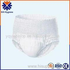Dry Surface And Breathable Pants Style Adult Diaper In Bed