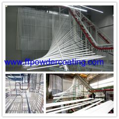 vertical aluminium profile powder coating plant