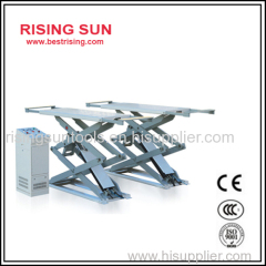 Surface mounted full rise scissor lift