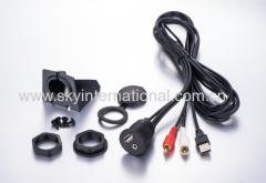 Car Dash Mount Installation USB/Aux RCA Extension Cable