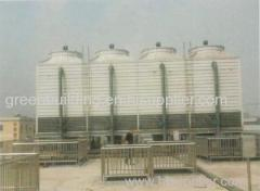 Composite material series square counter flow cooling tower
