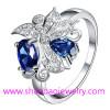 Silver Plating Costume Fashion Zircon Jewelry Woman Rings