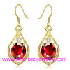 Gold Plated Costume Fashion Zircon Jewelry Women Earrings