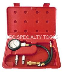 Flex Hose Gas Engine Compression Tester Gauge Kit Automotive Tools