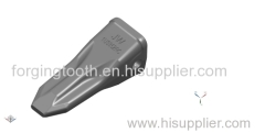 Bucket teeth for rock chisel style