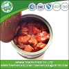 Convenience OEM brands spiced pork cubes in can