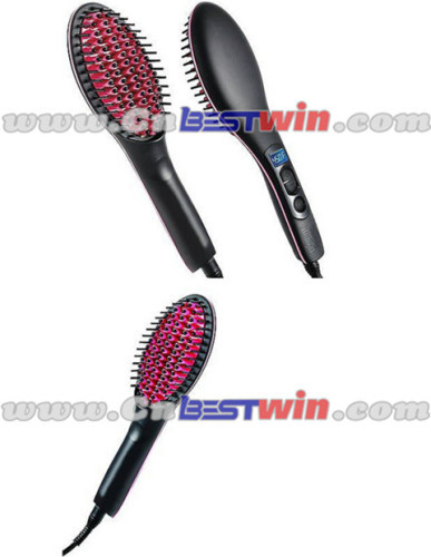 Simply Straight Ceramic Brush Hair Straightener as seen as on TV