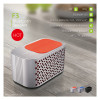 Waterproof IPX5 aluminium alloy Bluetooth speaker with fm 2*5 speakers play 15 hours