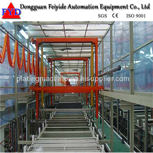 Feiyide Automatic Gentry Type Zinc / Galvanizing Barrel Electroplating Production Line for Metal Parts