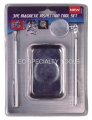 3pcs Magnetic Parts Tray & Inspection Mirror & Pick up Tools Set