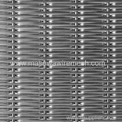 metal woven fabric mesh in elevator