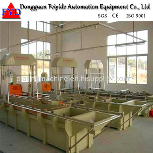 Feiyide Semi-automatic Zinc Barrel Plating Production Line for Fastener / Button