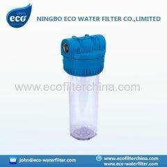 10-Zoll-Italienisch transparente Wasserfiltergehäuse
