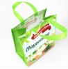 promotional Laminated Eco Fabric Tote Recyclable PP non woven tote bag shopping bag foldable bag