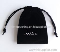 drawstring velvet pouches bag