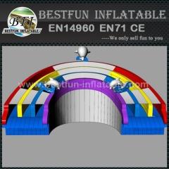Cool splash inflatable swimming pool water slide