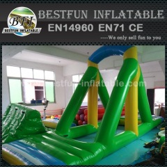 Inflatable swing for water sport
