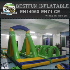 Inflatable rope water floating swing game