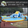 Giant Inflatable Pool Water Park With Water Slide