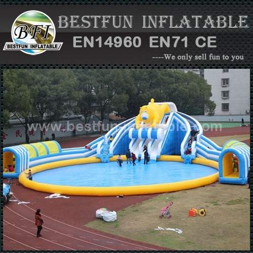 Slide Pool Combo Inflatable Water Park