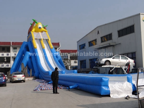 Hippo Inflatable Water Slide Giant Slider