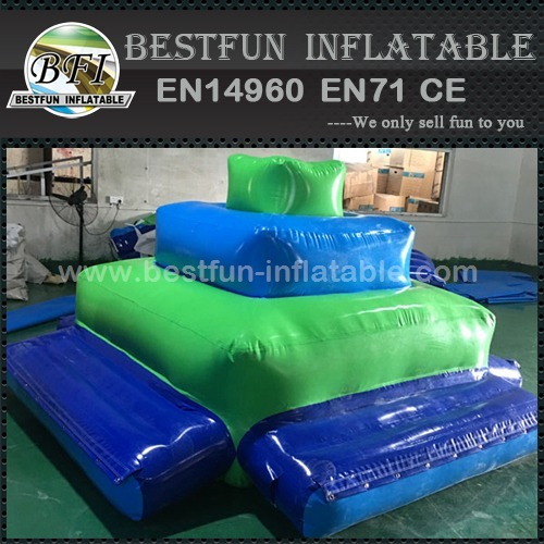 Inflatable floating deck water park