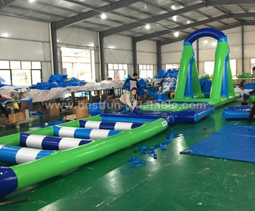 Hurdles Fun Run Inflatable Water Obstacles Course