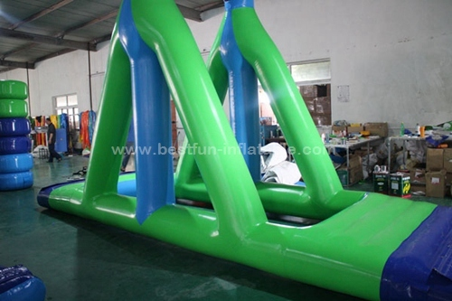 Inflatable airflow pool obstacle course inflatable swing
