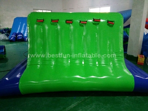 Inflatable cliff water obstacle course for water park