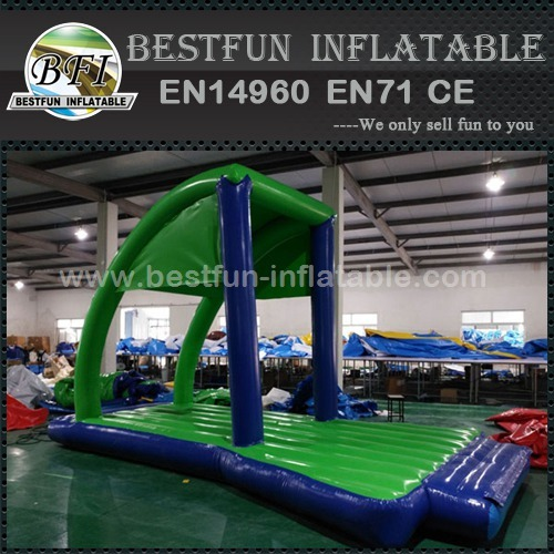Custom inflatable start gate for water park