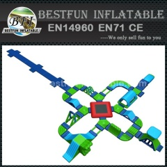 Commercial giant floating inflatable action waterpark