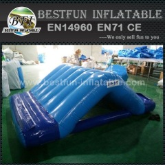 Inflatable floating water park slide