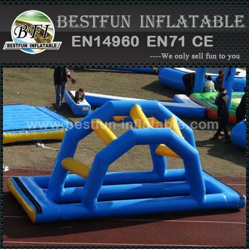 Inflatable floating bridge water game