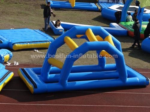 Inflatable water game floating bridge