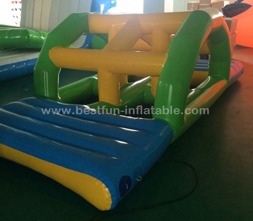 Kids inflatable water floating bridge