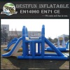 Large floating inflatable water park slides