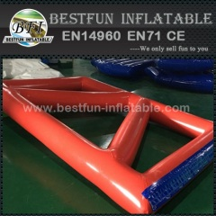 Colourful inflatable water pond