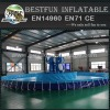 Rectangular Giant Collapsible metal frame aquaculture swimming pool
