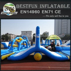 Floating water park inflatable obstacle course