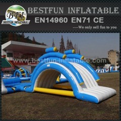 Inflatable raft bridge slide combo