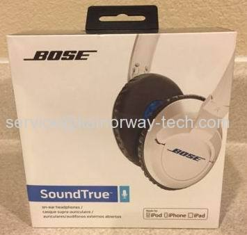 New Bose SoundTrue Around-Ear Style Headphones white with Microphone for iPhone iPod iPad