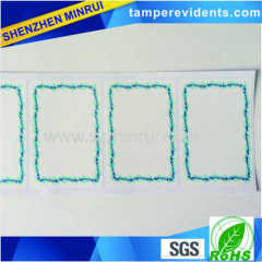 wave border blank eggshell sticker