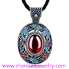 Silver Plated Costume Fashion Gemstone Jewelry China Style Women Ladies Necklaces