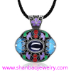 Silver Plated Costume Fashion Gemstone Jewelry China Style Women Party Necklaces