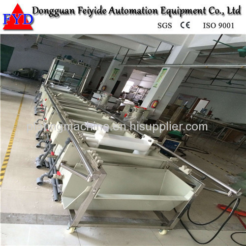 Feiyide Semi-automatic ABS Chrome Barrel Electroplating / Plating Production Line