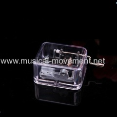 Edelweiss Clear Acrylic Musical Box