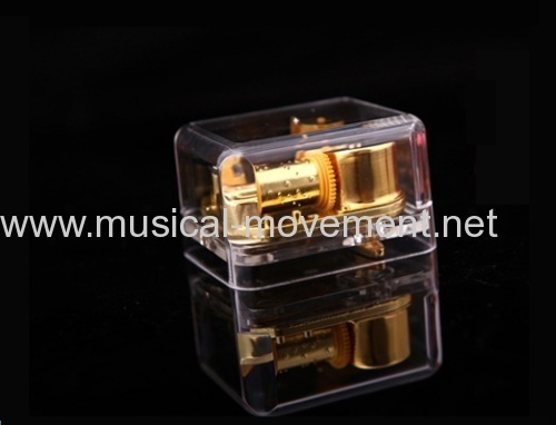 Tune Dixieland Clear Acrylic Music Box