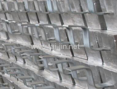 Sacrificial Aluminium Anode applyed in ship hulls